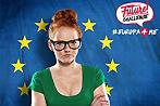 Mädchen vor Europafahne
