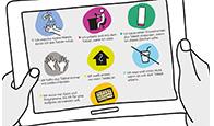 Verhaltensregeln Tablets und Laptops