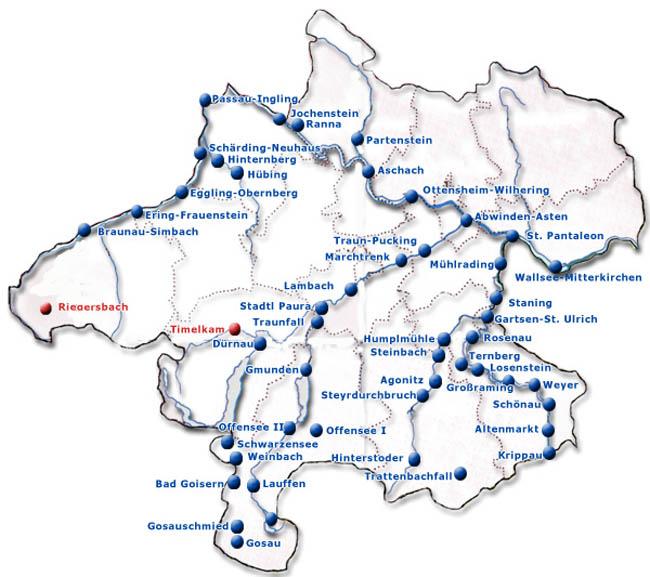 Steiermark Karte Flüsse.Kraftwerkskarte Oberösterreich Schule At