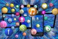 Handy mit Icons